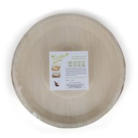 Disposable Areca Palm Leaf Plate - 12 Inch Round   100% Natural, Export Quality, Eco Friendly, Available In Bulk