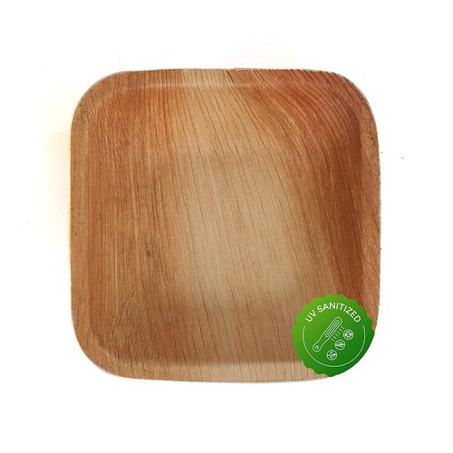 Disposable Areca Palm Leaf Bowl - 4 inch Square | 100% Natural, Export Quality, Eco Friendly, Available in bulk