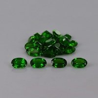3x4mm Chrome Diopside Faceted Oval Loose Gemstones