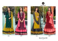 BLOSSOM VOL-15 Jam Silk Cotton With Embroidery Work Dress Materials