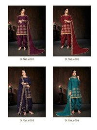 Bebo Vol- 4 Jam Cotton Semi-Stitched Patiyala Suit
