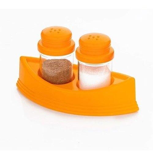 2-in-1 Plastic Kitchen Spice Storage Container