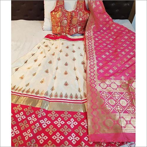 Fancy Silk Banarasi Lehenga
