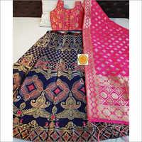 Printed Banarasi Lehenga