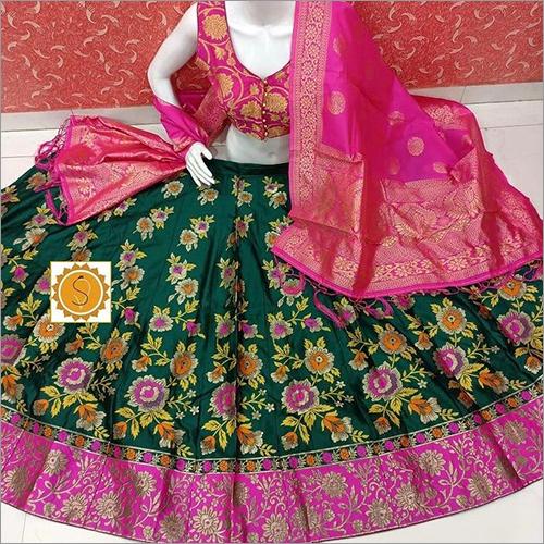 Digital Printed Banarasi Lehenga
