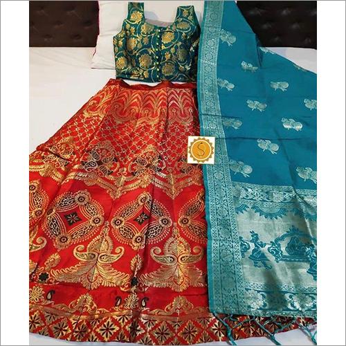Ladies Printed Ethnic Banarasi Lehenga