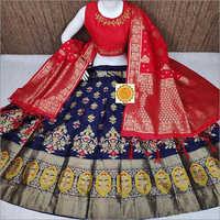 Ladies Silk Designer Lehenga