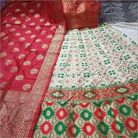 Digital Printed Banarasi Silk Lehenga