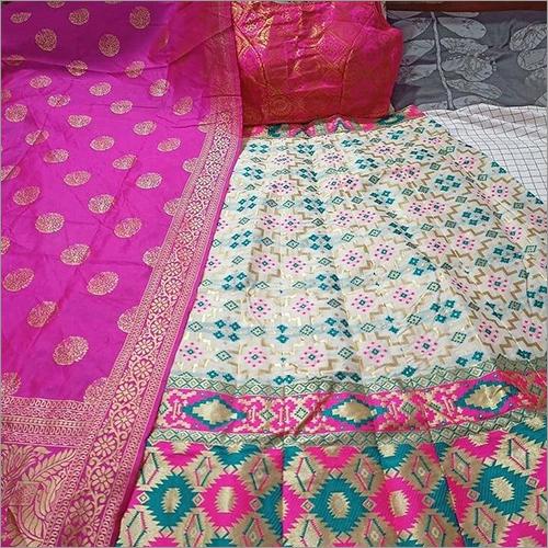 Designer  Printed Banarasi Silk Lehenga