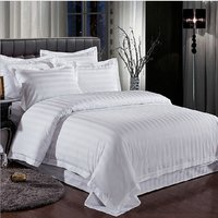 100 % Cotton Bed Sheet 1 CM Satin Strips