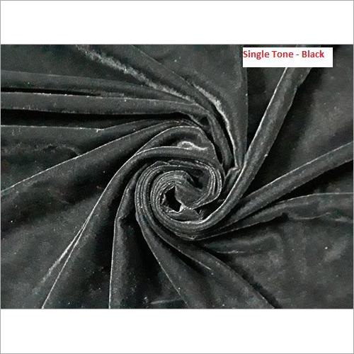 Single Tone Black Micro Velvet 9000 Fabrics