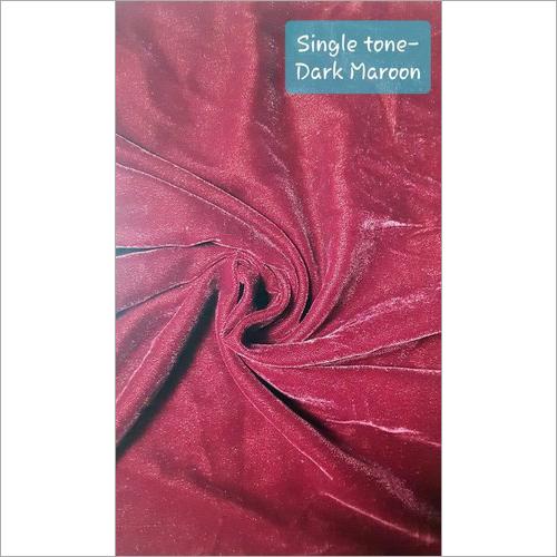 Single Tone Dark Maroon Micro Velvet 9000 Fabric