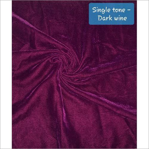 Single Tone Dark Wine Micro Velvet 9000 Fabric