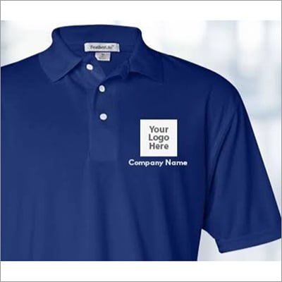 Blue Mens Branded Corporate T-Shirt