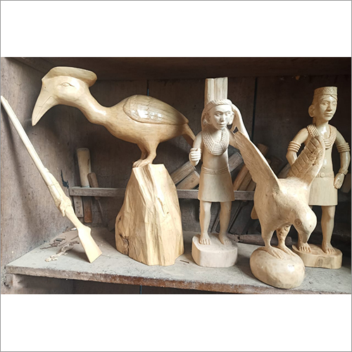 Wood Carving Statue