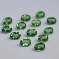 3x5mm Green Kyanite Faceted Oval Loose Gemstones
