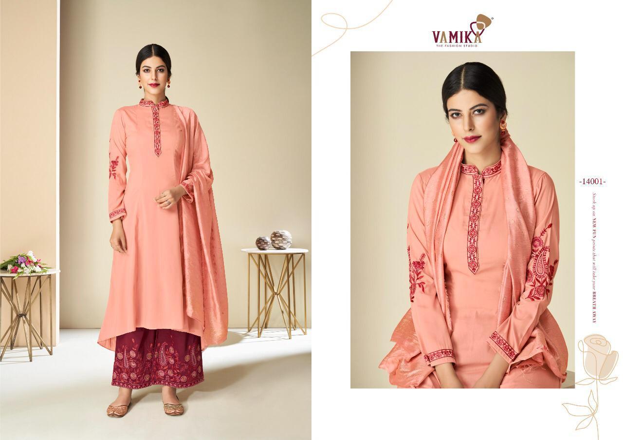 Vamika Nx Singature Muslin Silk Readymade Suit Catalog