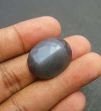6x4mm Gray Moonstone Faceted Oval Loose Gemstones