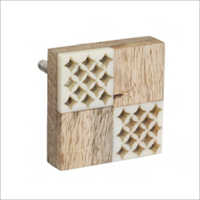 Square Shape Wooden Knobs