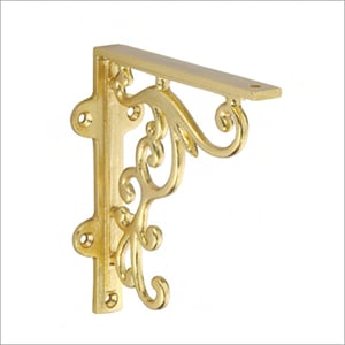 Metal Foritic Gold Shelf Bracket