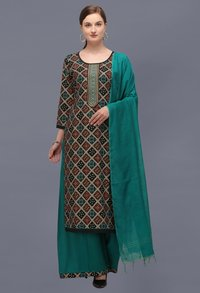 Exclusive Bandhani Print Dress Materials With Embroidery