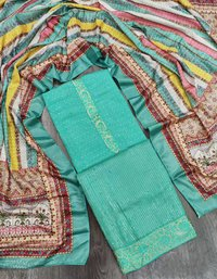 Exclusive Dress Material With Sequence Work