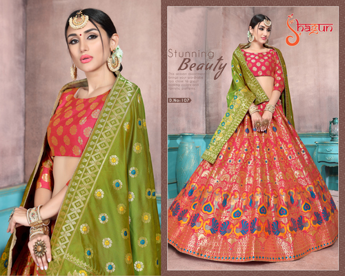 Designer Jacquard Ladies Lehenga