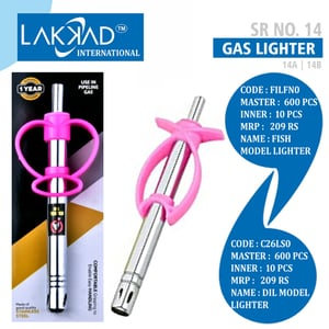 Stainless Steel Gas Lighter with Easy Full Grip for Kitchen Stove