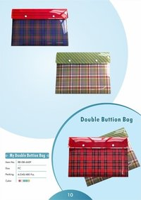 Double Buttion Bag