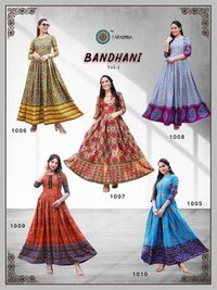 BANDHANI VOL 1 Heavy Cotton With Manual Work Kurtis