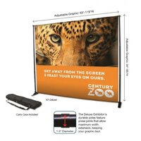 Wall screen banner stand