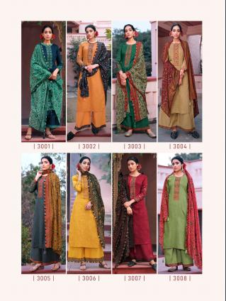 Shanaya Cotton Satin Print Dress Materials