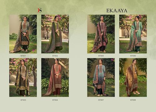 Ekaaya Jam Cotton Digital Print Dress Materials