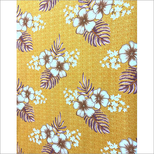 Yellow Floral Printed Bed Sheet