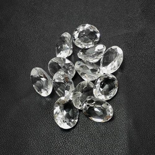 3x5mm Crystal Quartz Faceted Oval Loose Gemstones