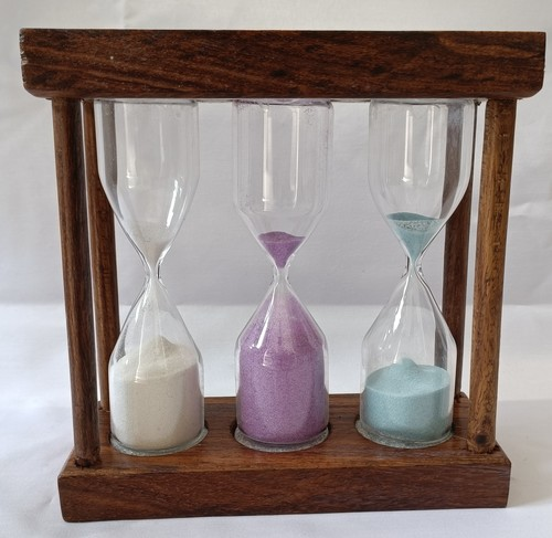0194 3 in one wooden  sand timer 3+4+5min