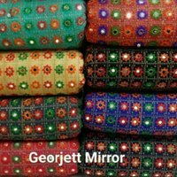 Georgette Mirror Embroidery