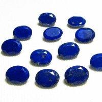 6x8mm Lapis Lazuli Faceted Oval Loose Gemstones