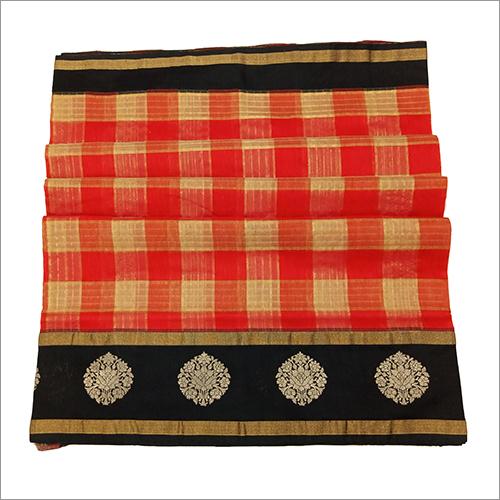 Ladies Banarasi Handloom Kadiyal Tussar Saree