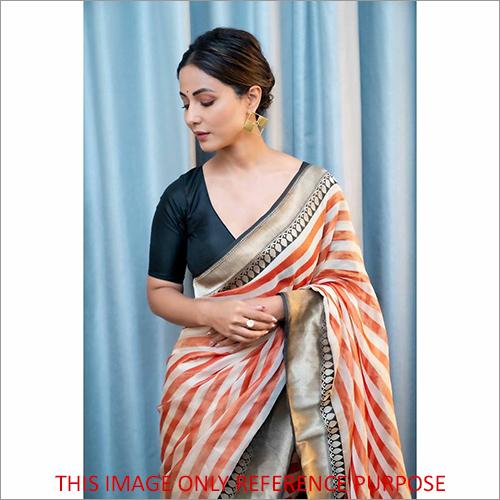 Ladies Handloom Banarasi Tissue Saree