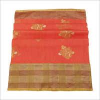 Linen Kadiyal Banarasi Handloom Saree