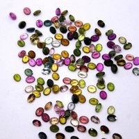 3x4mm Multi Tourmaline  Faceted Oval Loose Gemstones