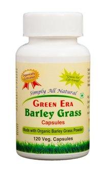 Organic Barley Grass Powder 120 Veg.Capsules Bottle