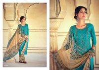 Jashn-e-patial Pure Cotton Print Embroidery Patiyala Dress Materials