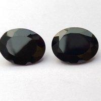 8x10mm Black Spinel Faceted Oval Loose Gemstones