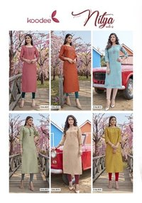 NITYA -2 Fancy Nylon Viscose Long Kurtis