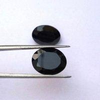 9x11mm Black Spinel Faceted Oval Loose Gemstones