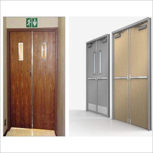 Metal Frame Wooden Fire Resistant Doors