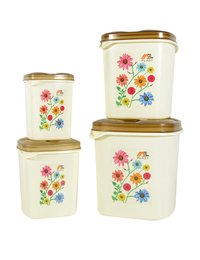 Plastic Household container Set - 4 PCS Set