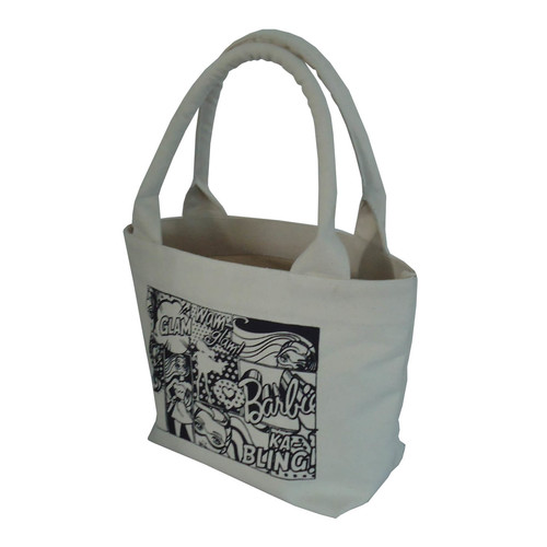 12 Oz Natural Canvas Tote Bag With Inside Hanging Zip Pocket